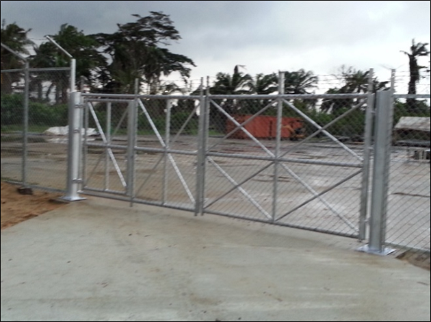 1. Access gate to BNAG Manifold  AG Compressor