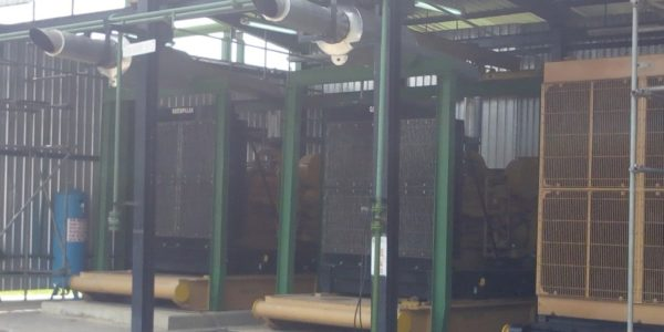 Gas Generators with Exhaust Piped outside Shelter