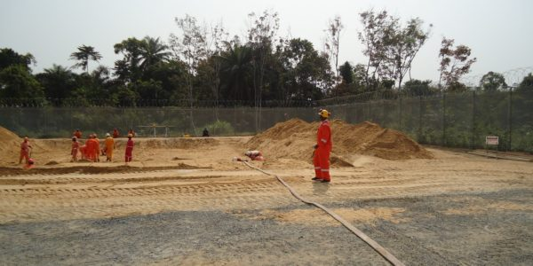 Ground preparation for MCC/FAR Building Foundation